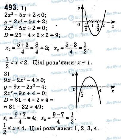 ГДЗ Алгебра 9 клас сторінка 493