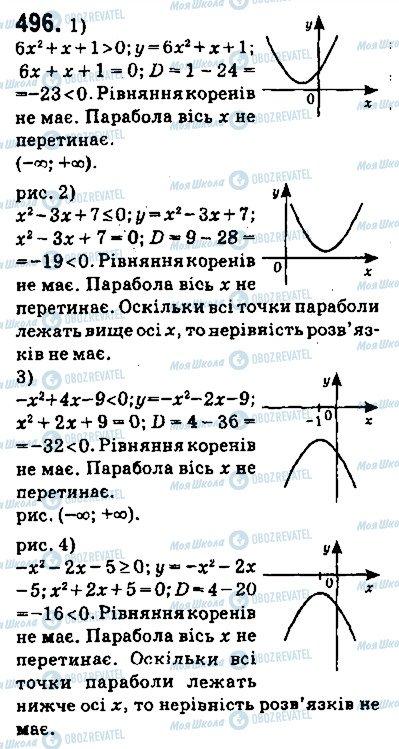 ГДЗ Алгебра 9 клас сторінка 496