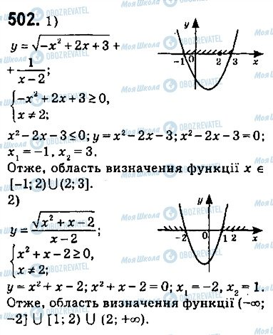 ГДЗ Алгебра 9 клас сторінка 502