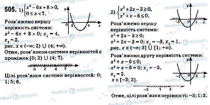 ГДЗ Алгебра 9 клас сторінка 505