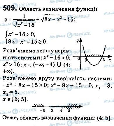 ГДЗ Алгебра 9 клас сторінка 509