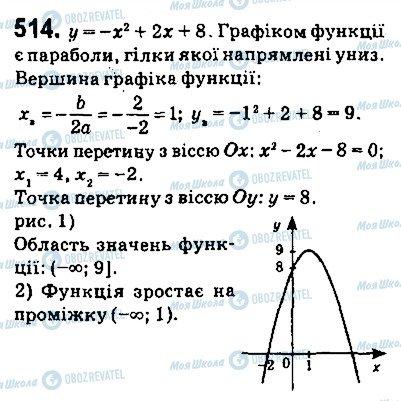 ГДЗ Алгебра 9 клас сторінка 514