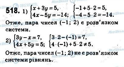 ГДЗ Алгебра 9 клас сторінка 518