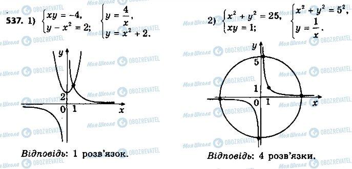 ГДЗ Алгебра 9 класс страница 537