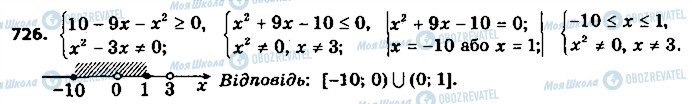 ГДЗ Алгебра 9 клас сторінка 726