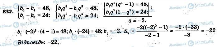 ГДЗ Алгебра 9 клас сторінка 832