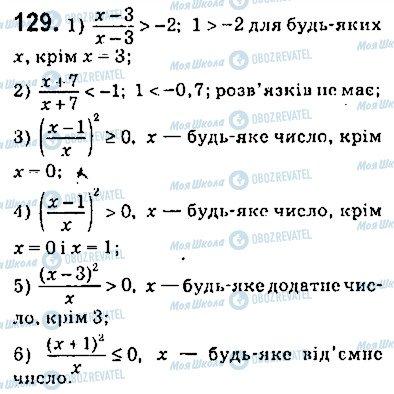 ГДЗ Алгебра 9 клас сторінка 129
