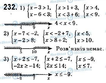 ГДЗ Алгебра 9 клас сторінка 232