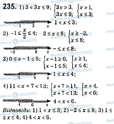 ГДЗ Алгебра 9 клас сторінка 235