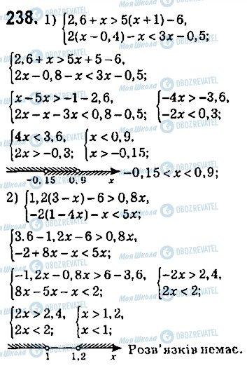 ГДЗ Алгебра 9 клас сторінка 238