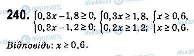 ГДЗ Алгебра 9 клас сторінка 240