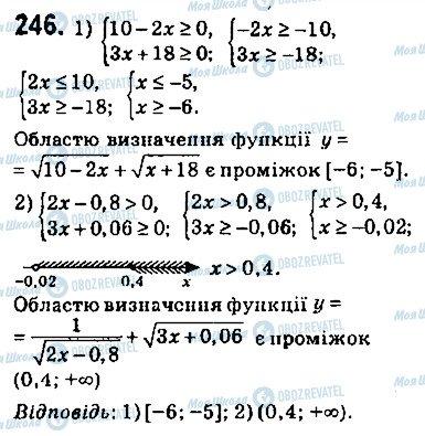 ГДЗ Алгебра 9 клас сторінка 246