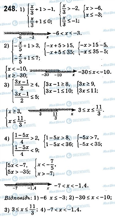 ГДЗ Алгебра 9 клас сторінка 248