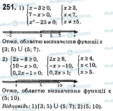 ГДЗ Алгебра 9 клас сторінка 251