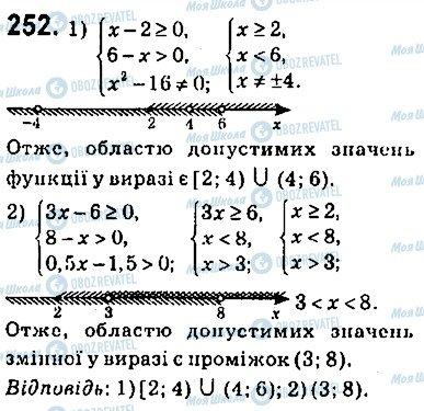 ГДЗ Алгебра 9 клас сторінка 252