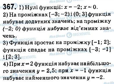 ГДЗ Алгебра 9 клас сторінка 367
