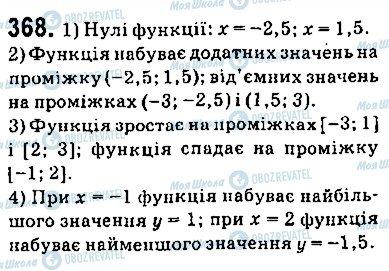 ГДЗ Алгебра 9 класс страница 368