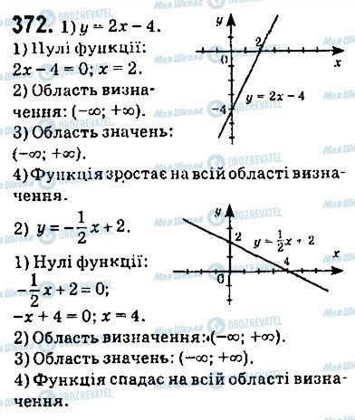 ГДЗ Алгебра 9 клас сторінка 372