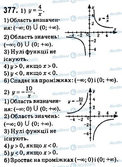 ГДЗ Алгебра 9 клас сторінка 377