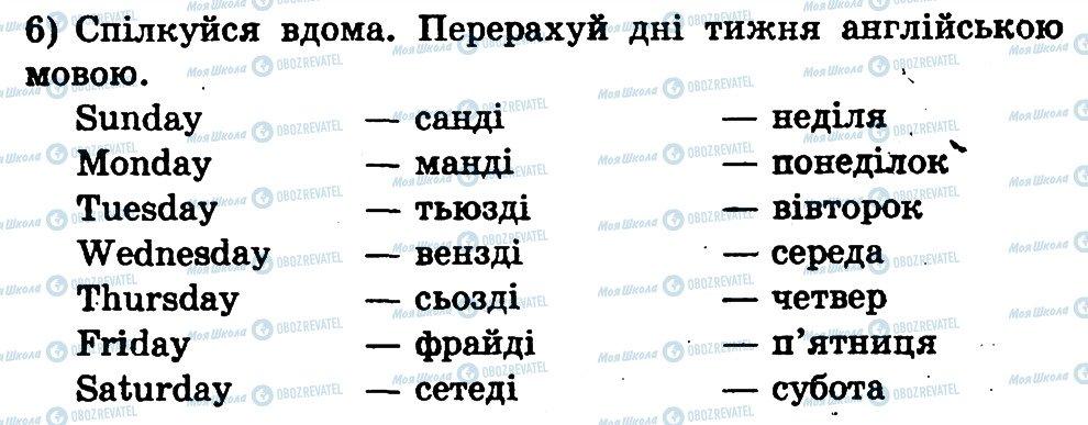 ГДЗ Англійська мова 1 клас сторінка 6