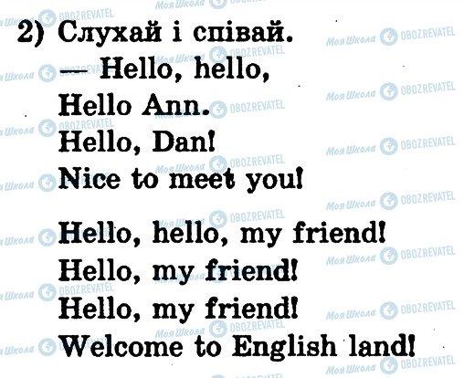 ГДЗ Англійська мова 1 клас сторінка 2