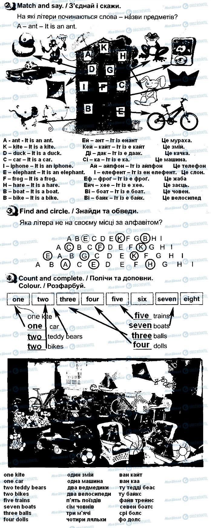 ГДЗ Англійська мова 1 клас сторінка Сторінка28