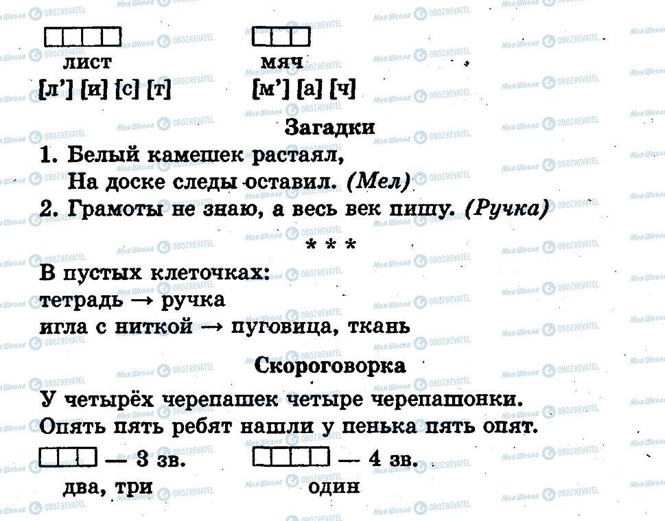 ГДЗ Русский язык 1 класс страница страница36