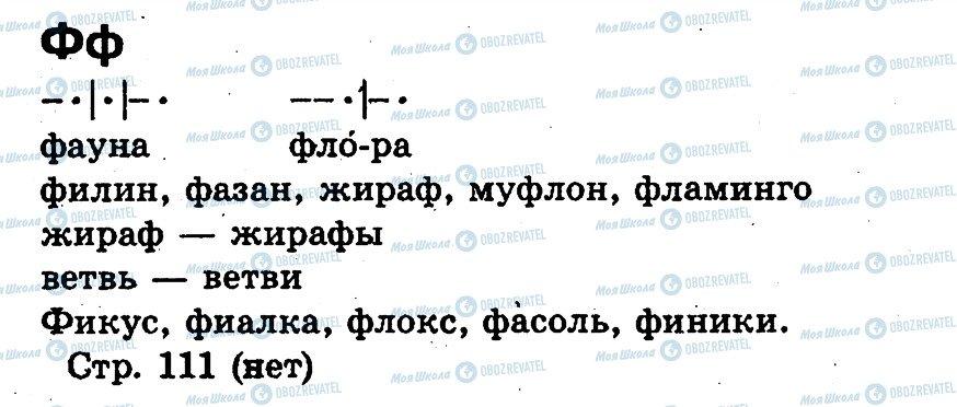 ГДЗ Російська мова 1 клас сторінка Ф