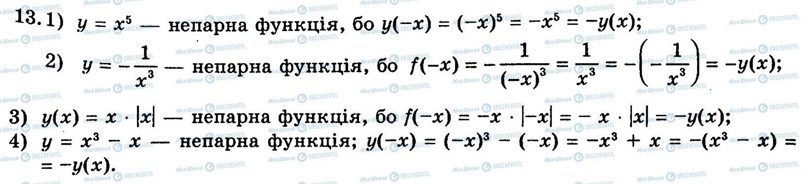 ГДЗ Алгебра 10 класс страница 13