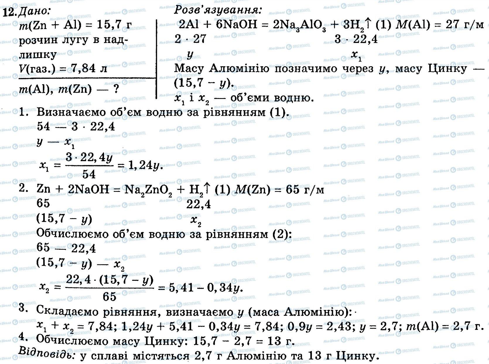 ГДЗ Хімія 10 клас сторінка 12