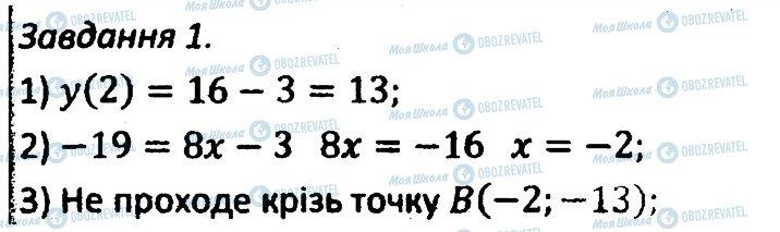 ГДЗ Алгебра 7 клас сторінка 1