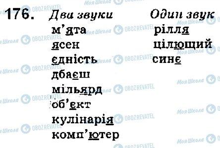 ГДЗ Українська мова 5 клас сторінка 176