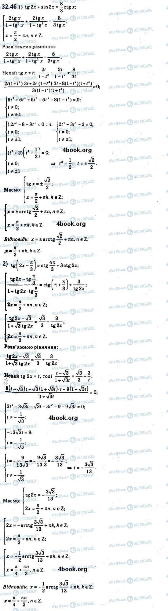 ГДЗ Алгебра 10 класс страница 46