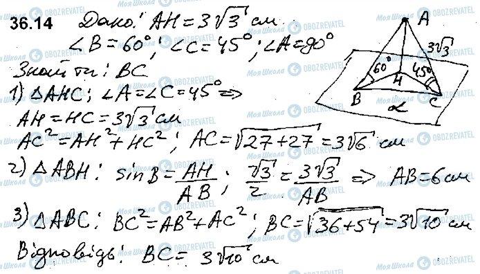 ГДЗ Математика 10 класс страница 14
