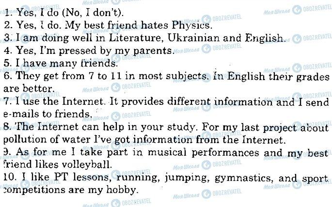 ГДЗ Англійська мова 10 клас сторінка p66ex5