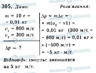 ГДЗ Фізика 10 клас сторінка 305