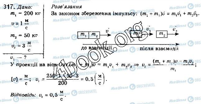 ГДЗ Фізика 10 клас сторінка 317