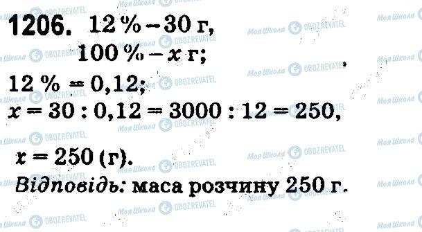 ГДЗ Математика 5 клас сторінка 1206