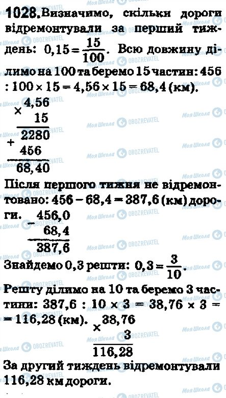 ГДЗ Математика 5 клас сторінка 1028