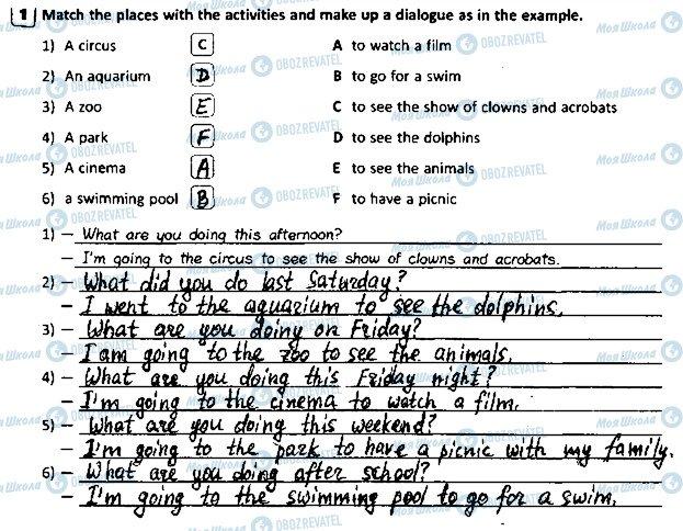 ГДЗ Англійська мова 5 клас сторінка p42ex1