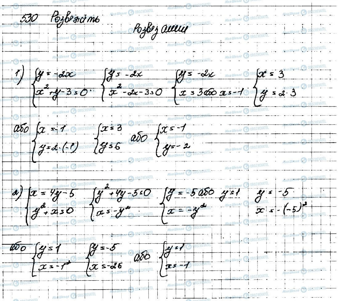 ГДЗ Алгебра 9 клас сторінка 530