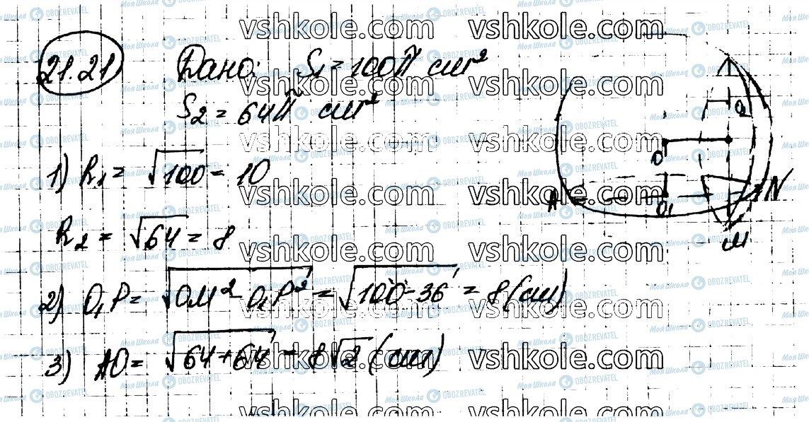 ГДЗ Математика 11 клас сторінка 21