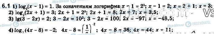 ГДЗ Математика 11 клас сторінка 1