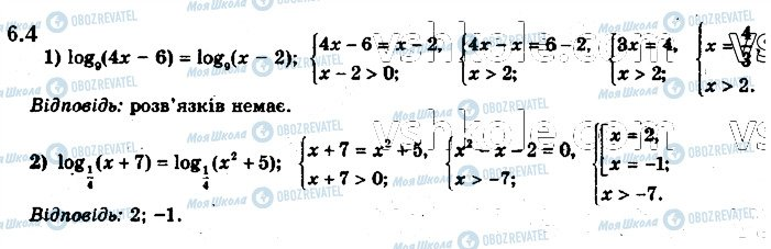 ГДЗ Математика 11 клас сторінка 4