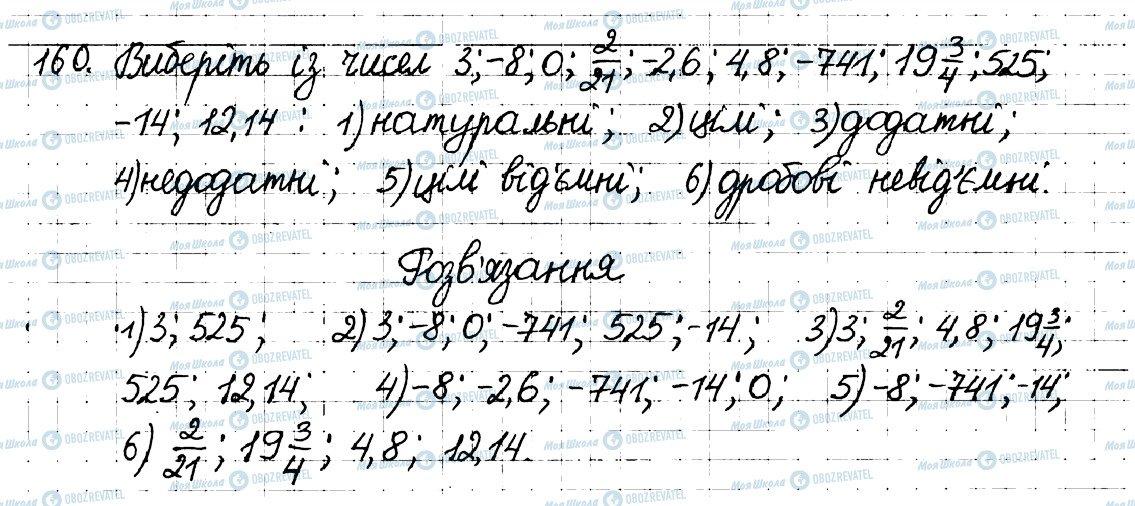 ГДЗ Математика 6 клас сторінка 160