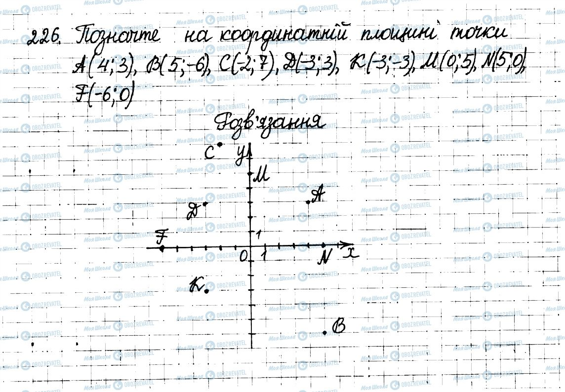 ГДЗ Математика 6 клас сторінка 226