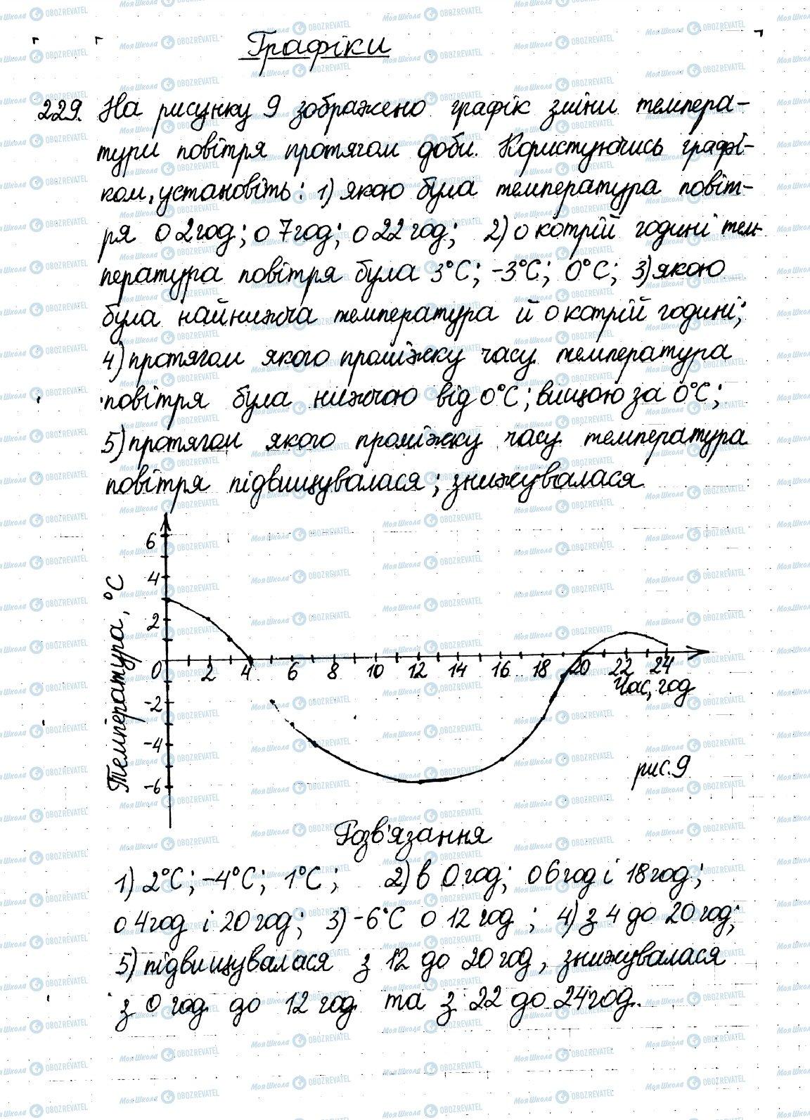 ГДЗ Математика 6 клас сторінка 229