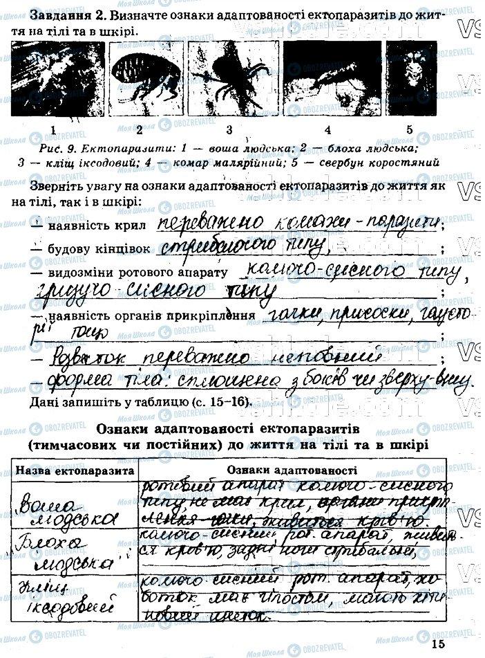 ГДЗ Біологія 11 клас сторінка стр15