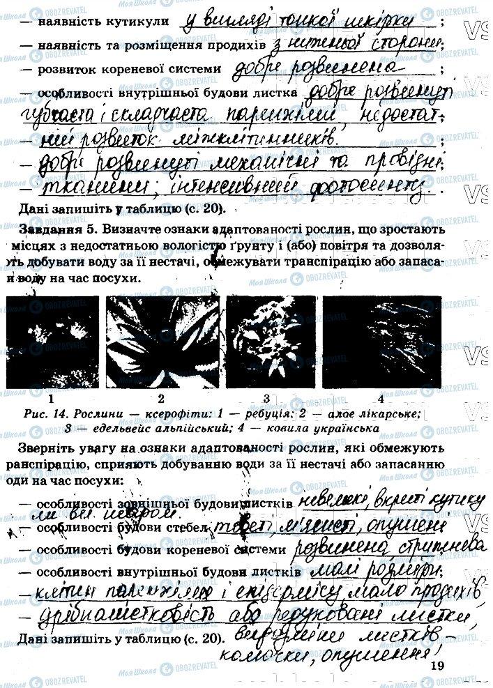 ГДЗ Біологія 11 клас сторінка стр19