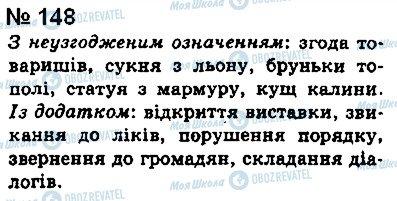 ГДЗ Укр мова 8 класс страница 148